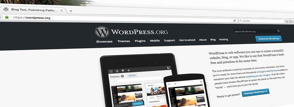 Strona wordpress.org - Jak założyć bloga – Nowy Kurs WordPress