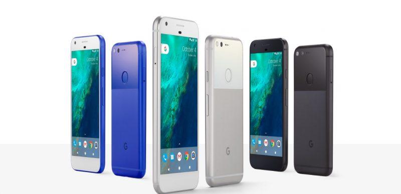 Google Pixel w 3 kolorach