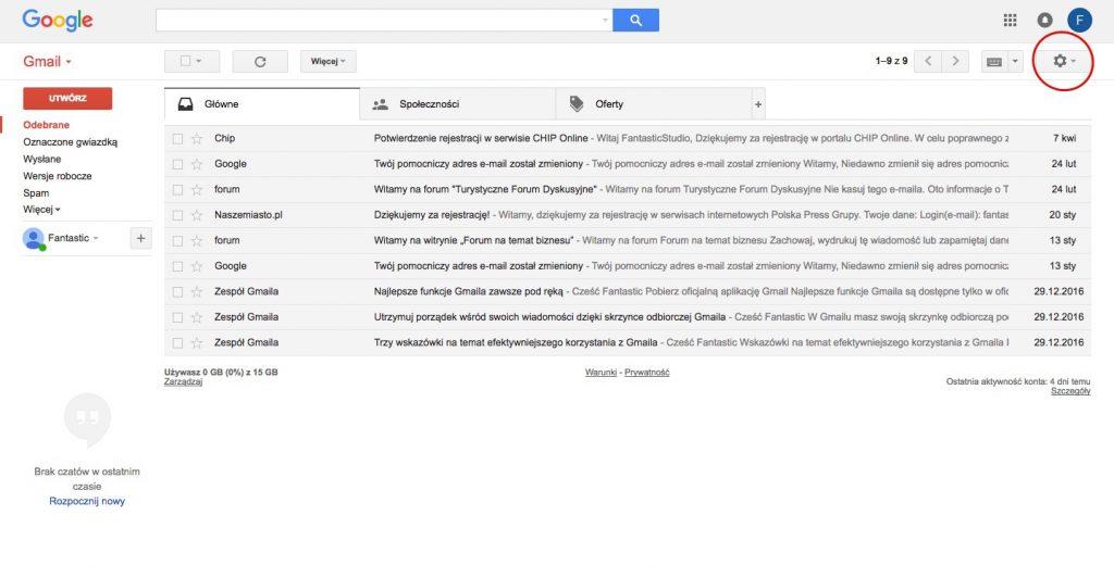 okno gmaila