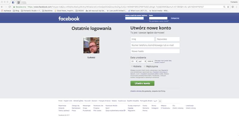 strona główna facebook