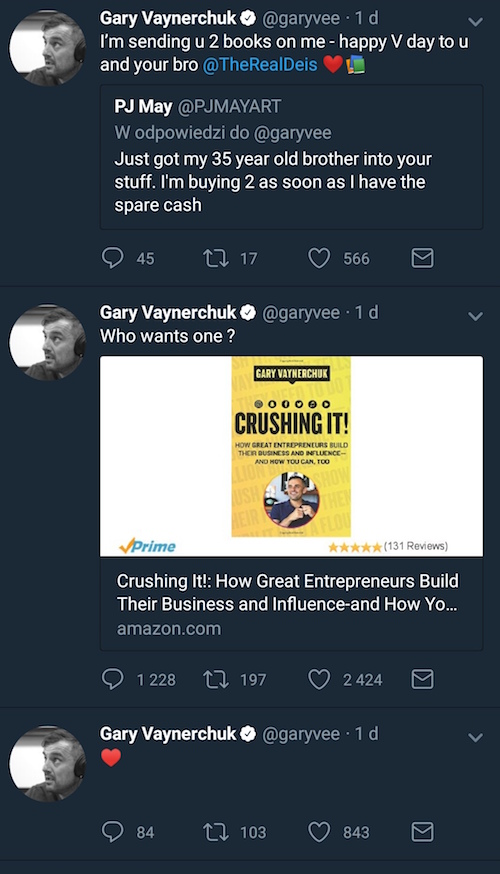 wpisy Gary'ego Veynarchuka z Twittera