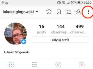 profil z zaznaczonym przyciskiem opcji