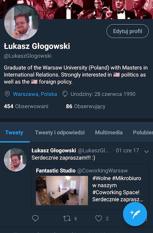 profil na Twitterze